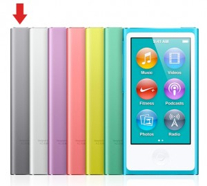 ipod nano space gray color