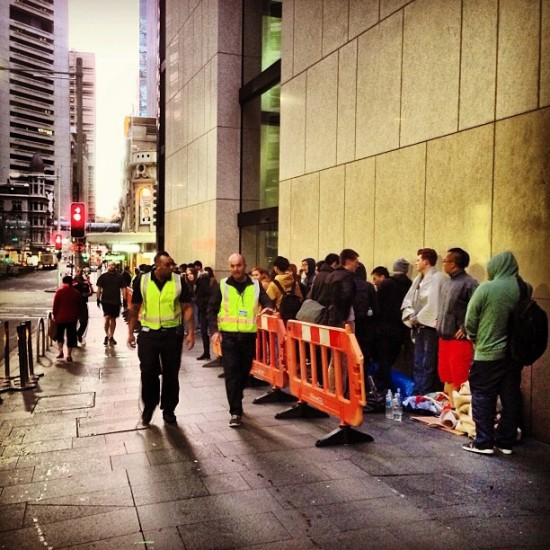 Sydney Australia Apple Store - iPhone 5S line