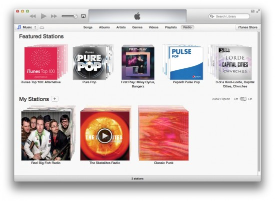 itunes with no sidebar
