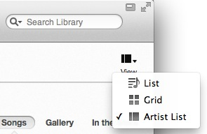 itunes list view