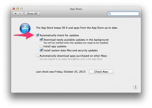 OSX Mavericks App Updates