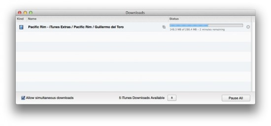 itunes download window