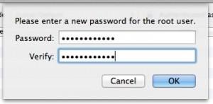 New root password