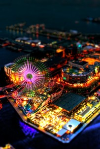 yokohama japan iphone 5s 5c wallpaper parallax tilt shift