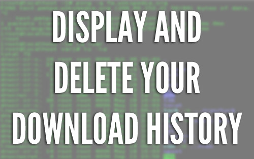 Download History Header