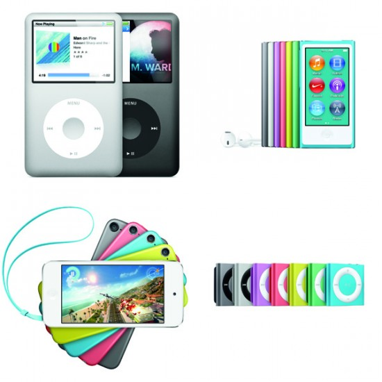 current ipod models