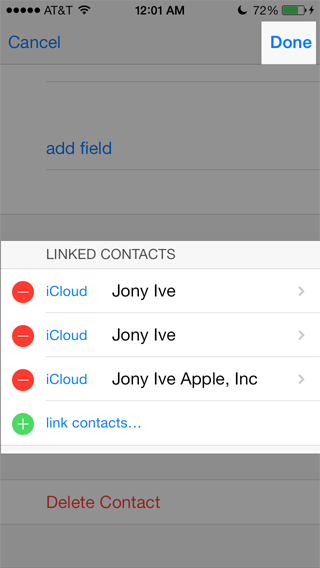 duplicate contacts complete list