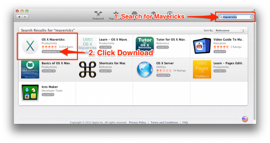 install os x mavericks download