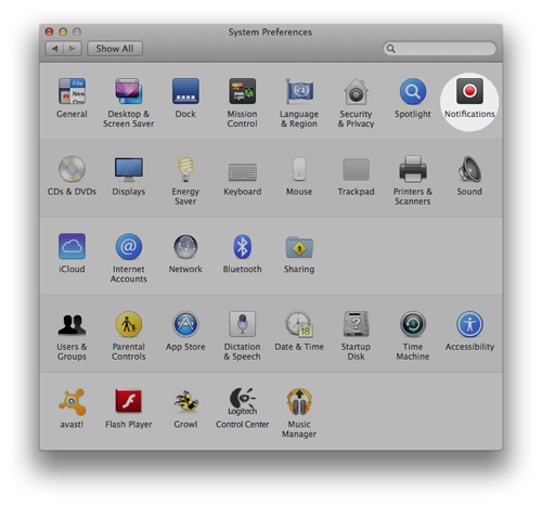 notification banners system prefs