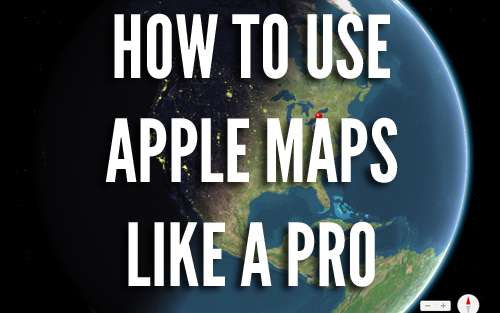 using apple maps