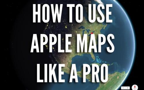 using apple maps