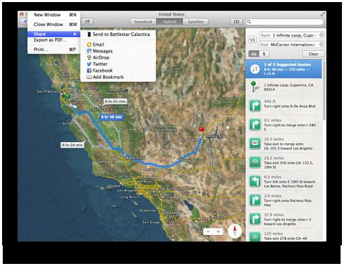 share apple maps