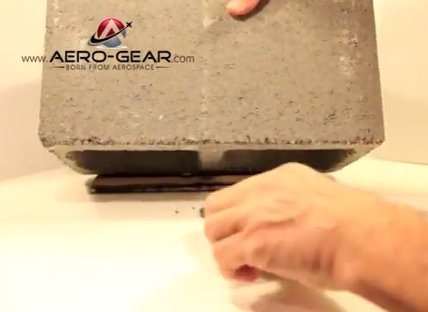 Aero Gear s Flight Glass SX  Sapphire Crystal  vs. a brick of concrete   YouTube