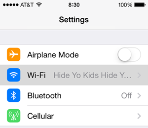 ios wi-fi settings