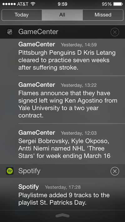 worst iphone features notification center