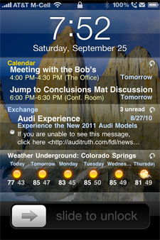 ios intelliscreen widgets