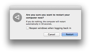 restart os x mavericks