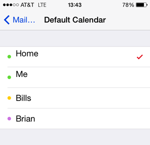 default calendar iphone how to set default accounts for mail contacts and 10487