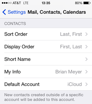 How to Set Default Accounts for Mail, Contacts, and