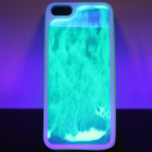 glow in the dark sand art iphone case