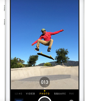 Professional iPhone Camera Features Burst Mode