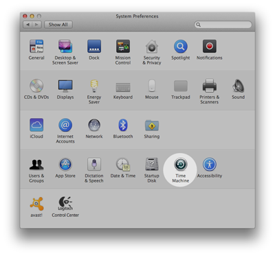 stuck time machine backup system preferences