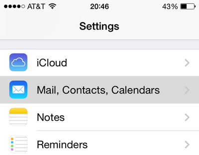 ios calendar settings