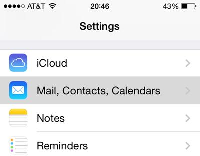 ios calendar settings