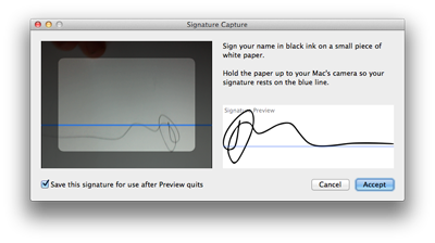 signature preview os x