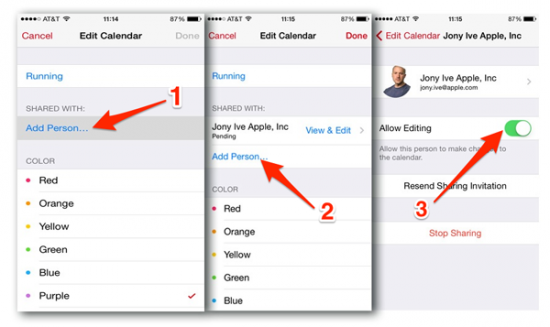 how to share calendars on iphone how to calendars using icloud apple gazette 3034