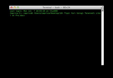 terminal pro tips file