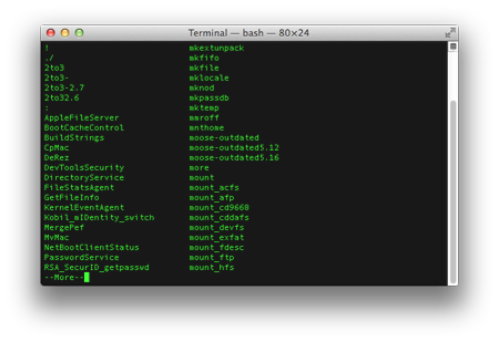 terminal tips list commands