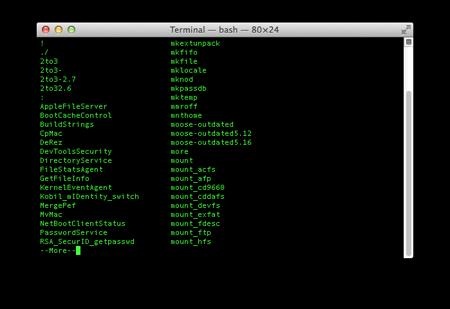 terminal tips list commands