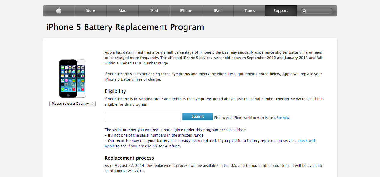 iphone battery replacement program iphone 5 battery replacement program apple gazette