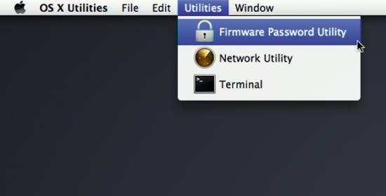 change firmware password mac