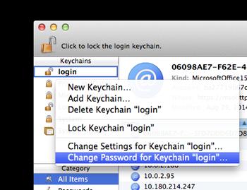 change keychain password mac