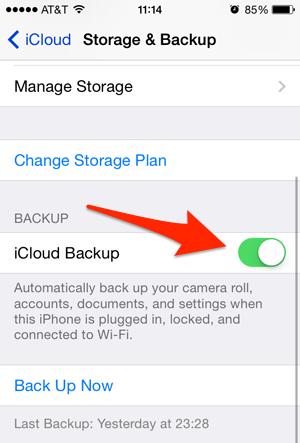 Upgrade iCloud Storage Backup