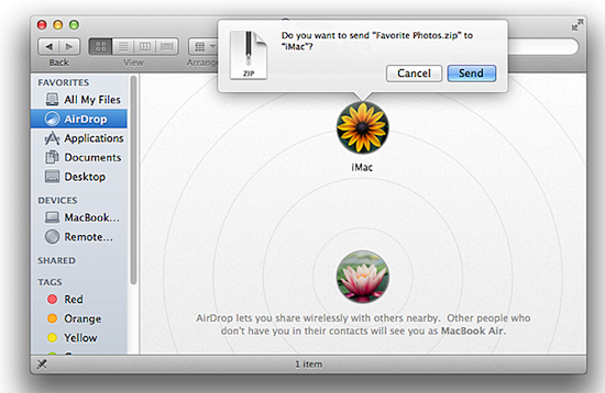 How to use airdrop to share files between ios 8 and os x yosemite how to use airdrop ccuart Image collections