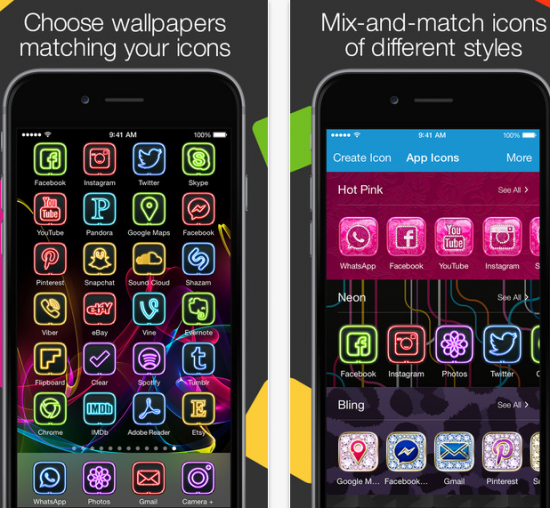 For more than wallpapers and themes, try this app. It also gives you different app icons to match your theme. Optimized for the iPhone 6 and 6 Plus, ...