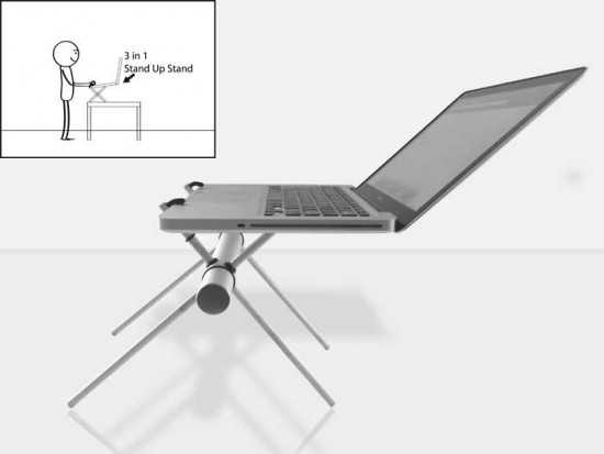 3 in 1 laptop stand