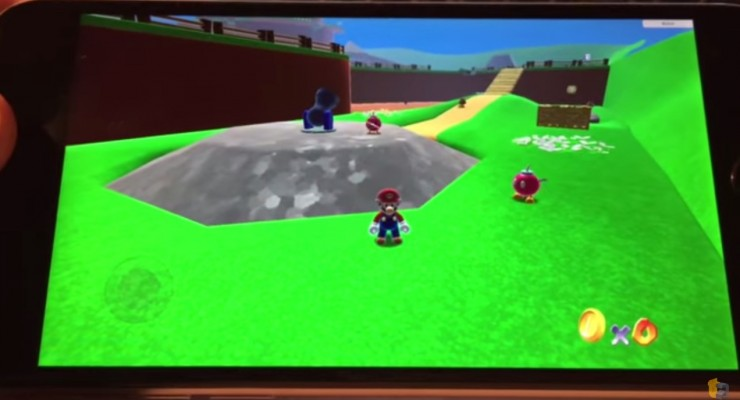 super mario 64 on the iphone 6