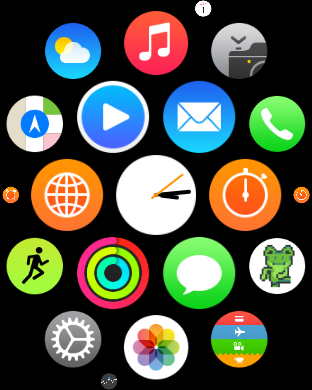 animated game for Apple Watch
