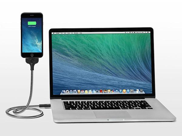 flexible iphone charging dock