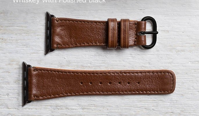 pad and quill leather apple watch band