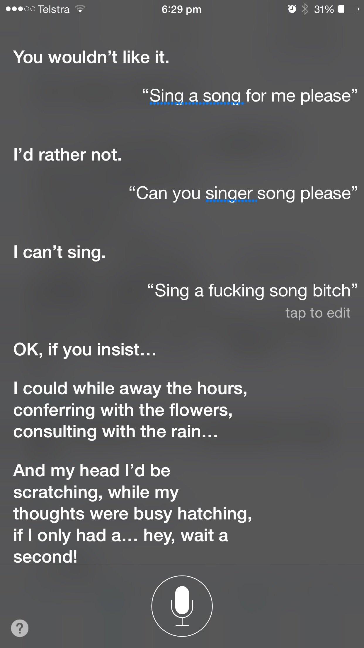 siri can sing