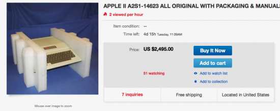 how much is are vintage apple products worth