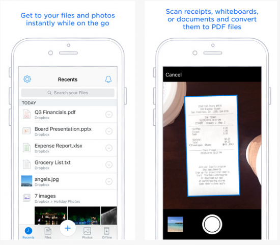 file storage apps for the iphone