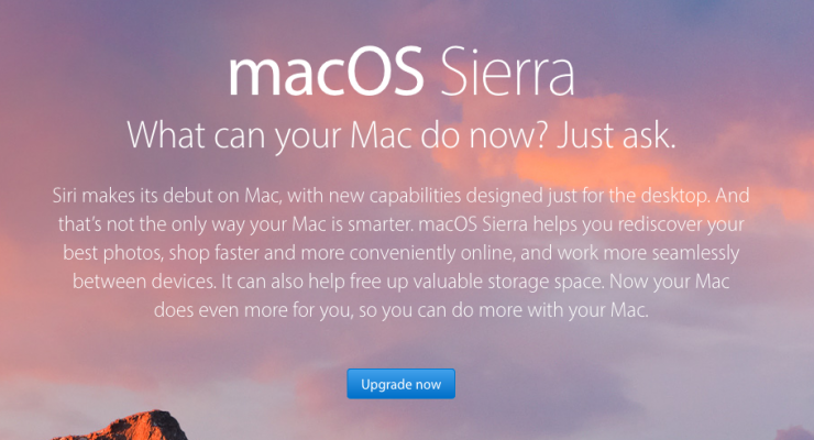 MacOS Sierra features