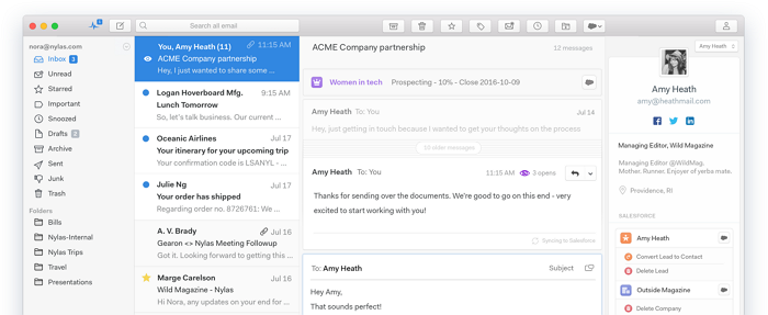 best macos email clients nylas n1