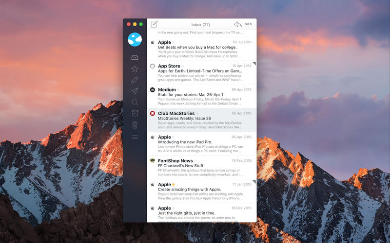 best macos email clients airmail